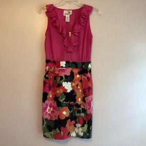 Tabitha Anthropologie Zip Side Sheath Dress Size 2